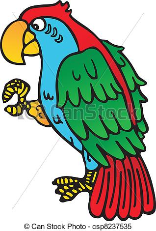 Clipart Vector of Parrot yellow beak.