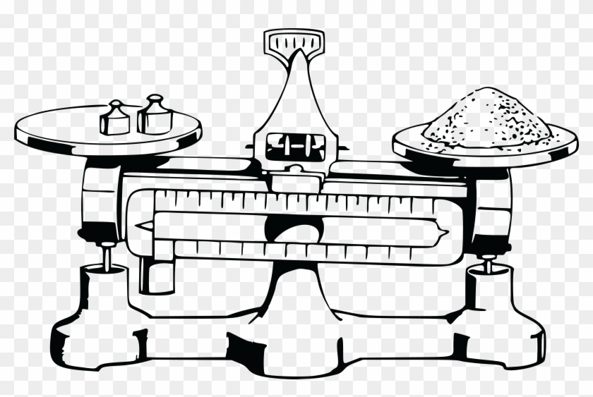 Free Clipart Of A Balanced Scale.