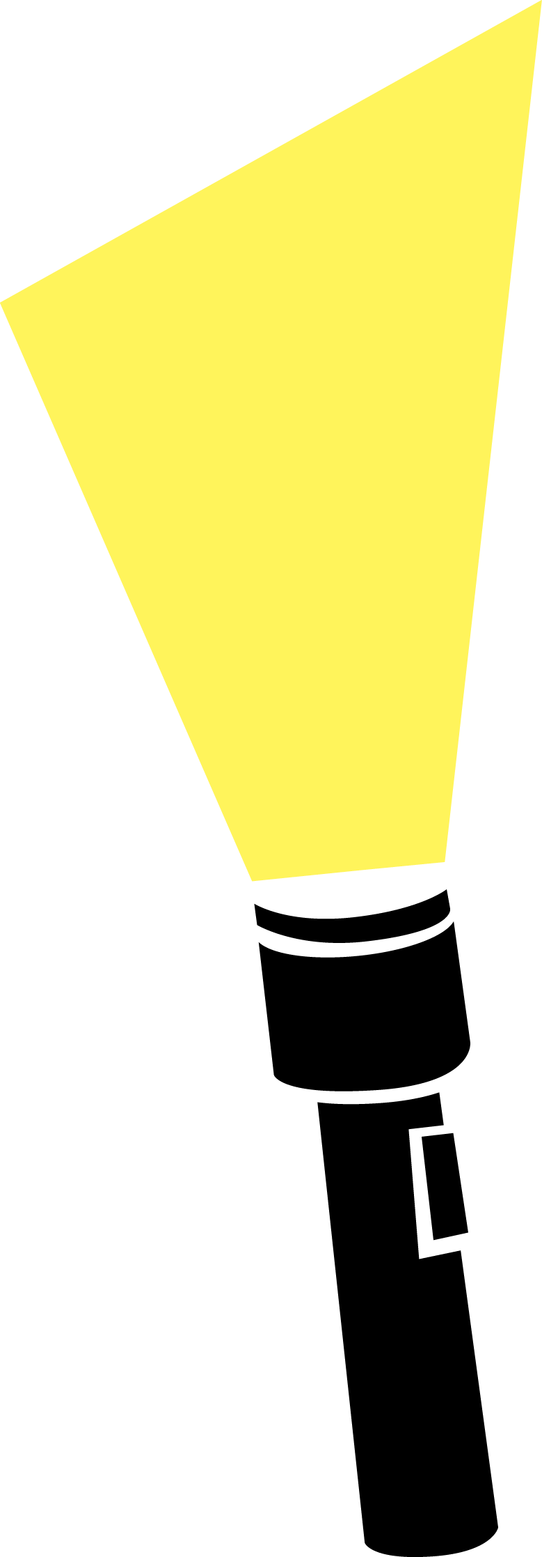 Torch Light Beam Clipart.