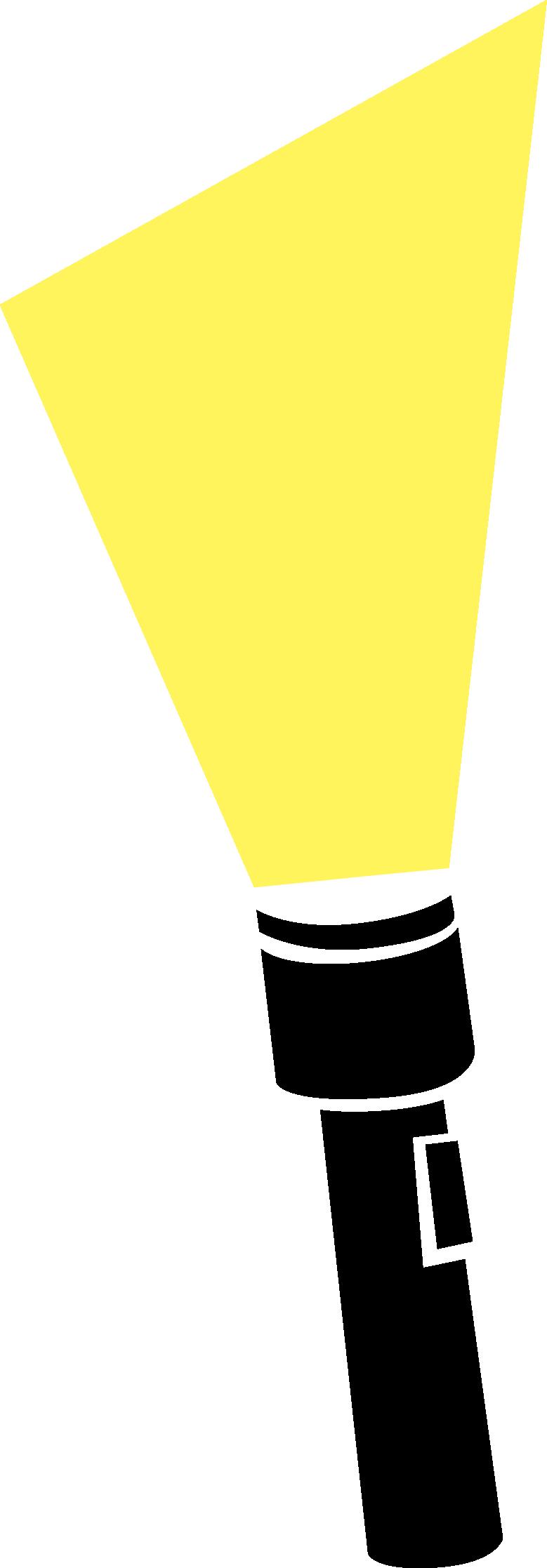 Torch Light Beam Clipart.