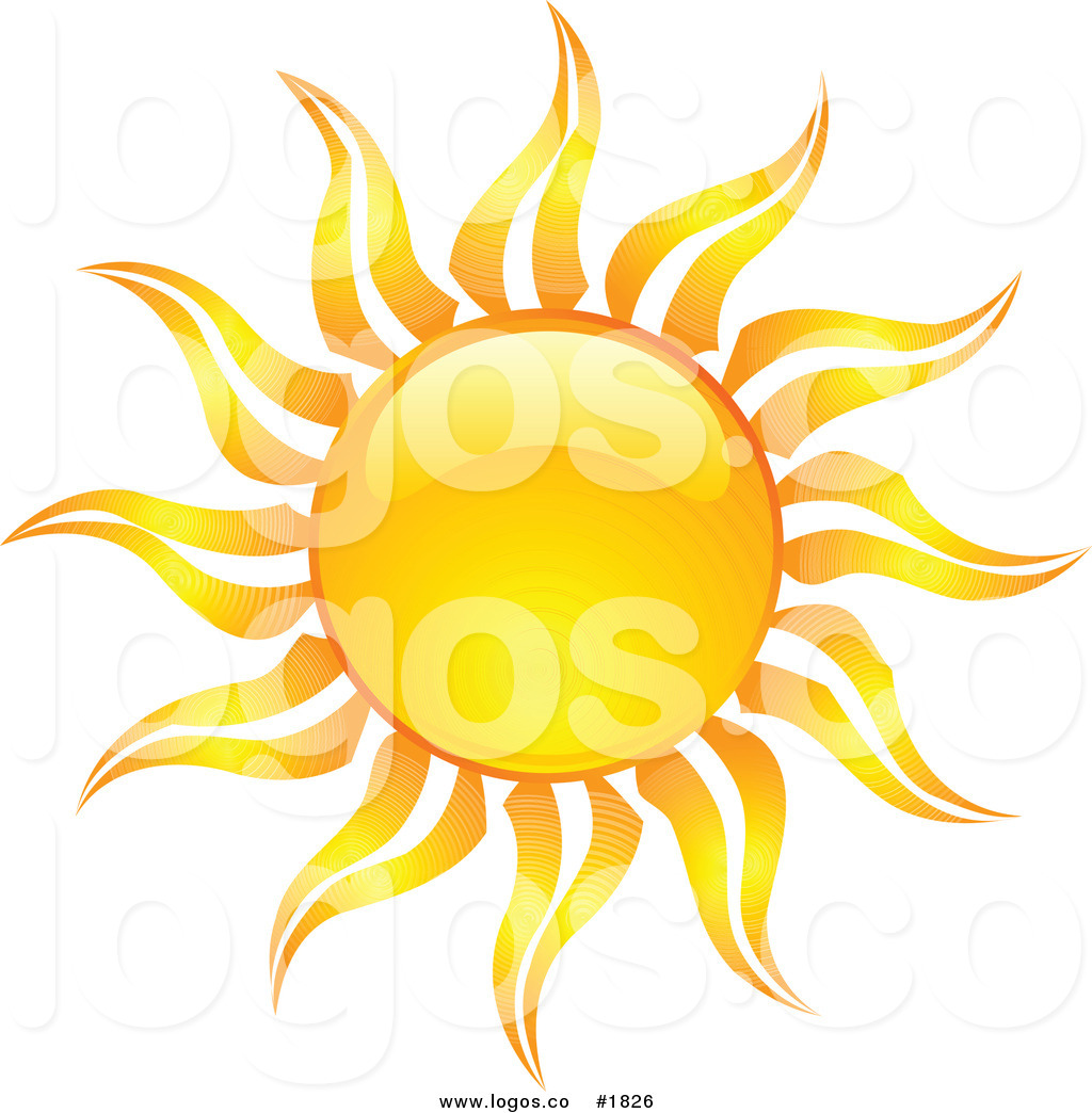 Beaming Orange Hot Summer Sun Design Logo Sizzling Orange Hot.