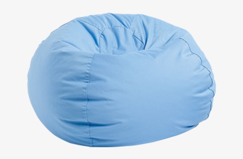 Bean Bag, Light Blue.