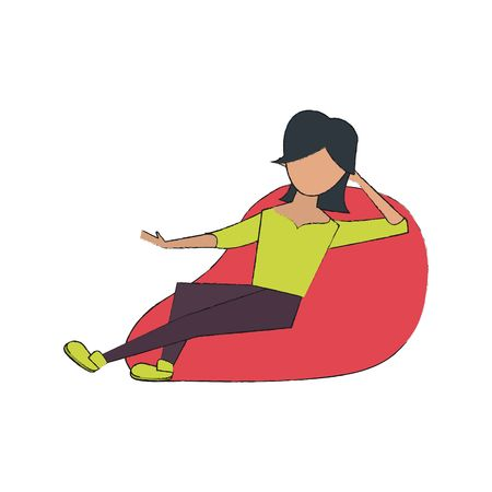 189 Bean Bag Chair Stock Illustrations, Cliparts And Royalty Free.