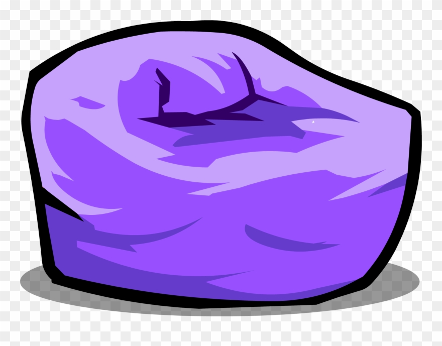 Banner Free Stock Image Purple Beanbag Chair.