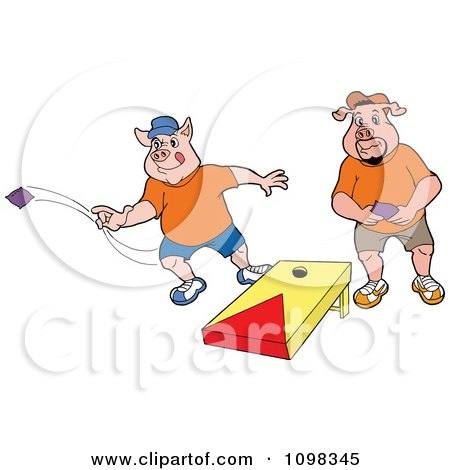 Bean Bag Toss Clipart With 2 People & Free Clip Art Images #21902.