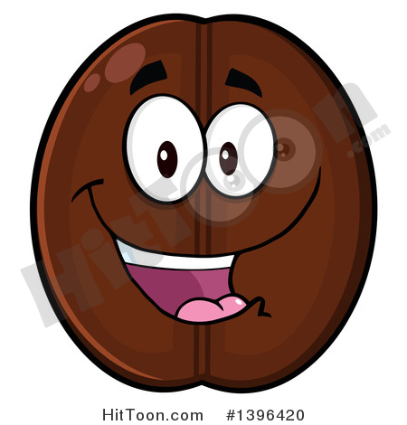 Coffee Bean Characters Clipart #1.