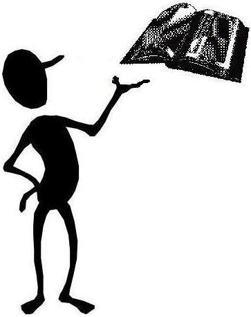 Bean Man Reading Clipart.