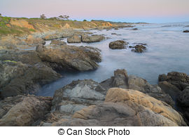 Stock Image of California Bean Hollow State beach in Cabrillo Hwy.