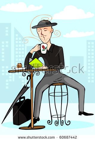 Man Drinking Coffee Stock Vectors, Images & Vector Art.