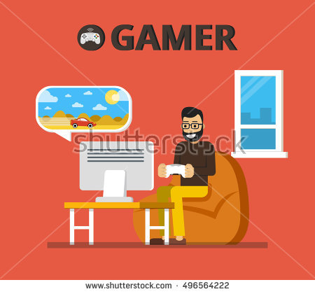 Young Asian Man Reading Magazine Relaxed Stock Vector 604005005.