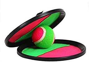 Catch and Toss Game, Catch Ball Sports Game Set /paddle catch and toss for  Kids with Grip Mitt and Ball Paddle Catch and toss/ Bean Bag Ball.