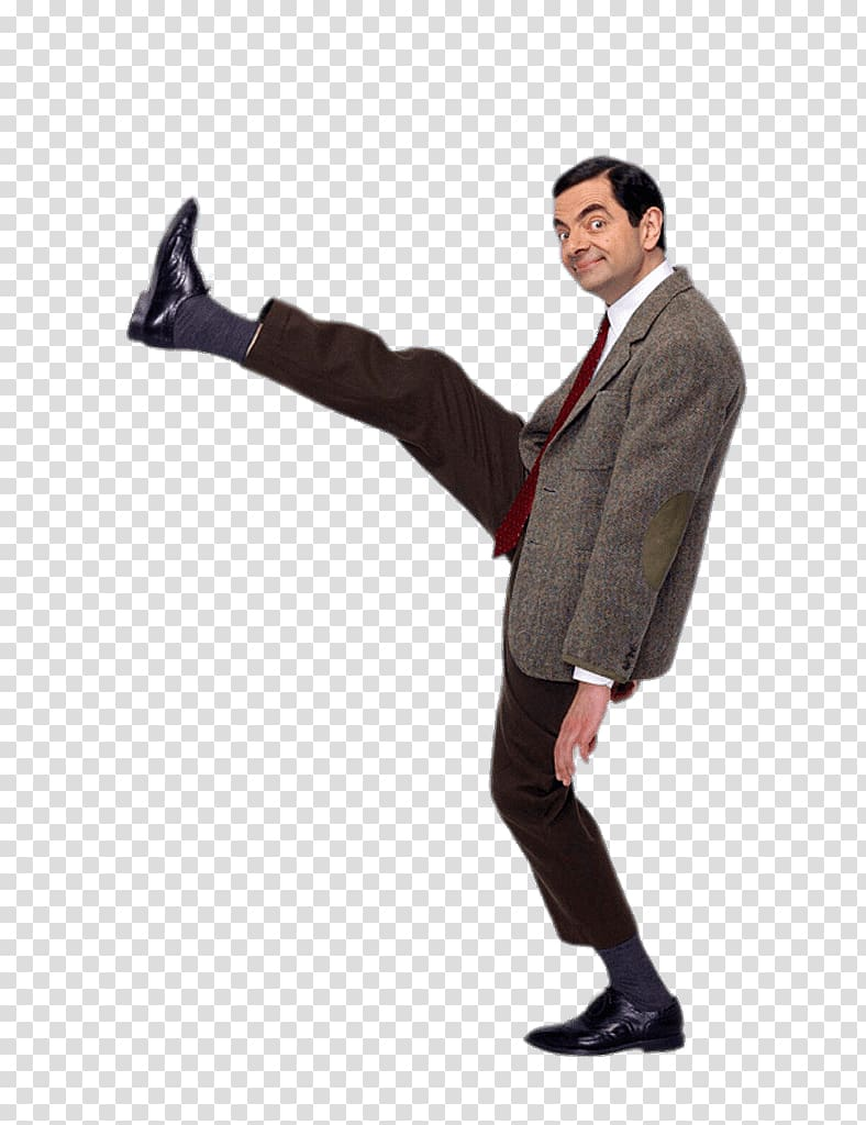 R, Mr Bean Huge Step transparent background PNG clipart.