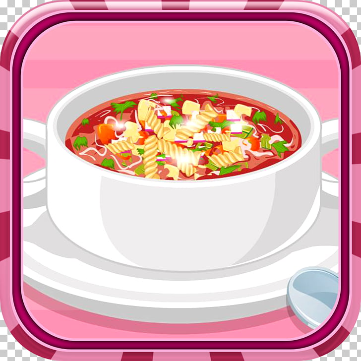 Minestrone Vegetarian cuisine Game Soup Food, red bean soup.
