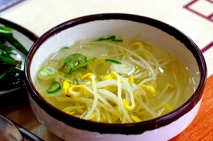 Bean sprout soup hangover.