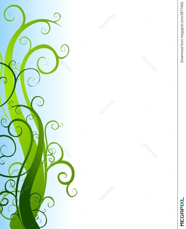 Green Garden Vines Border Illustration 3877465.