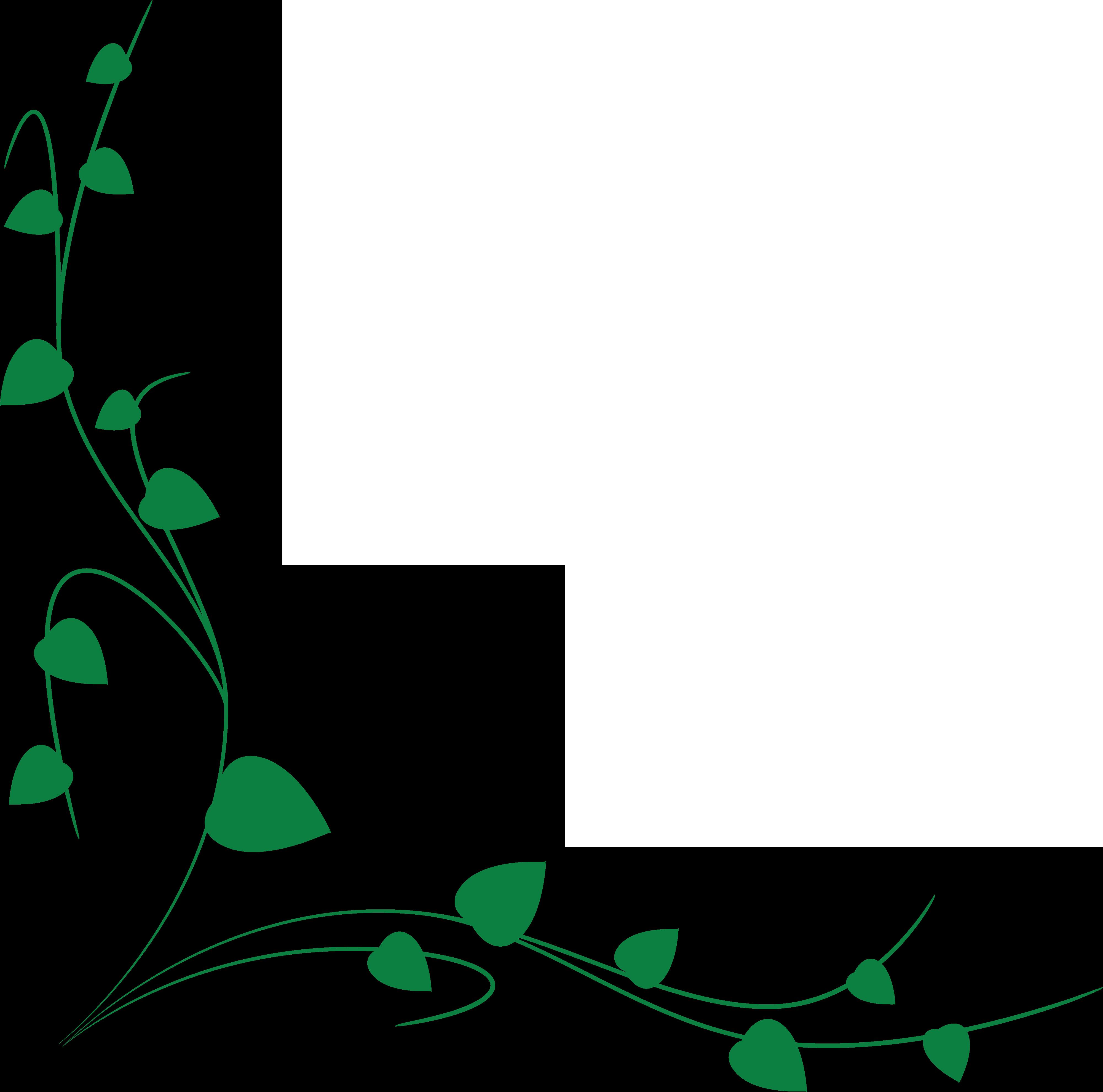 Green Vine Border Clipart.