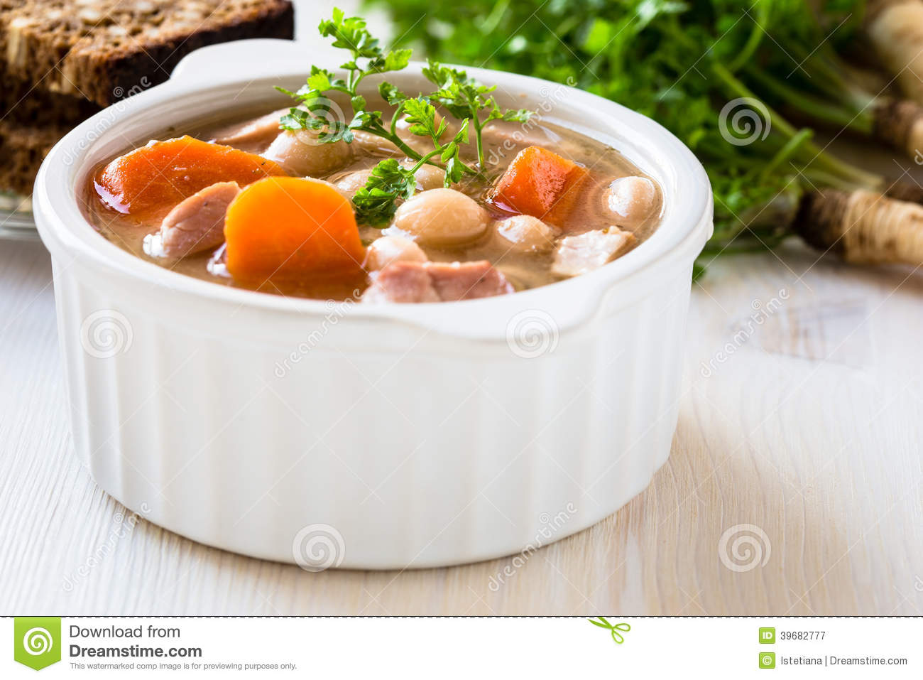Ham And Bean Soup Clipart.