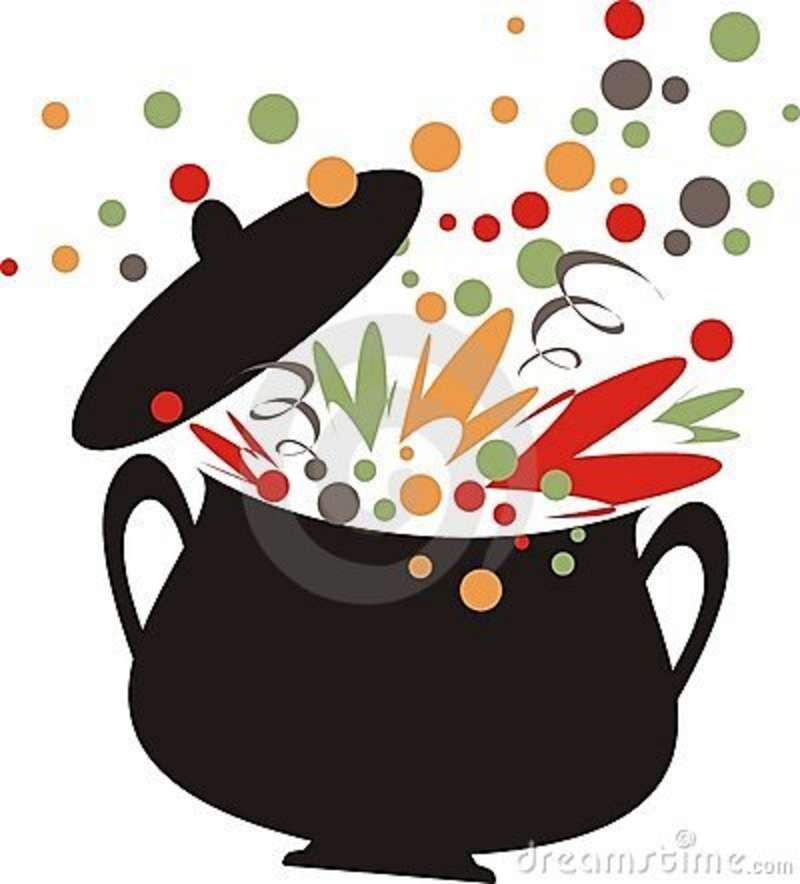 Boiling soup clipart.