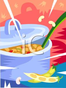 Bean Pot Clipart.