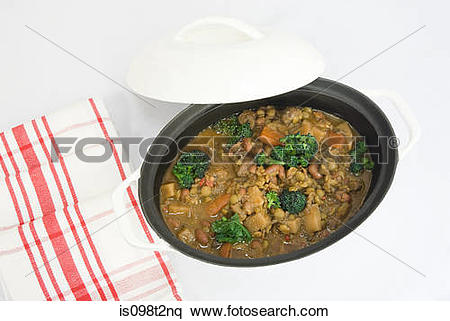 Stock Image of Vegetarian bean stew is098t2nq.