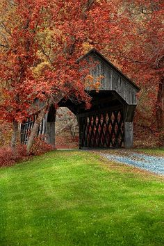 Autumn in Bean Blossom, IN. This looks like the bridge from.