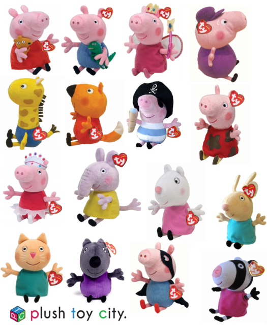 TY PEPPA PIG, GEORGE & FRIENDS SOFT PLUSH TOYS 6