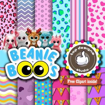 Beanie boo Digital Paper :