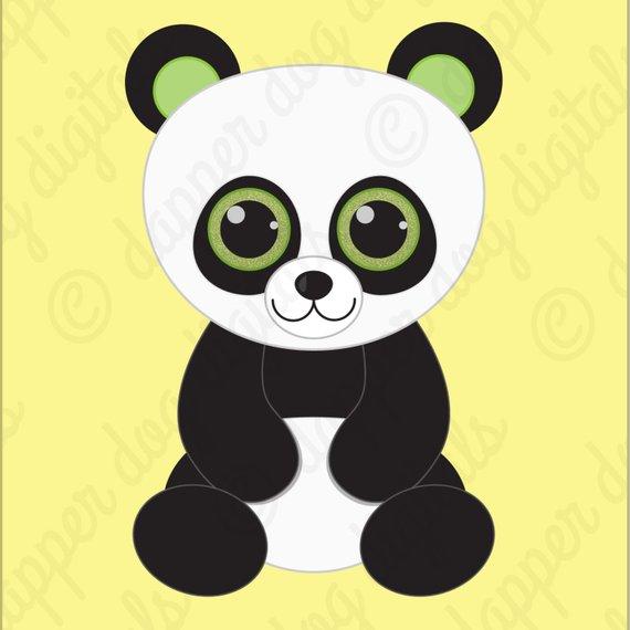 Beanie Boo's Clipart Set, Glitter Eyes.