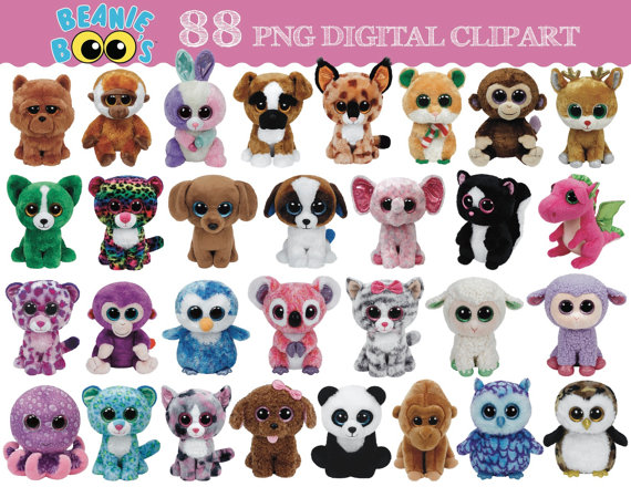 TY Beanie Boo 88 digital clipart images transparent by Bee3Shop.