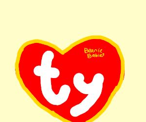 the beanie babies logo.
