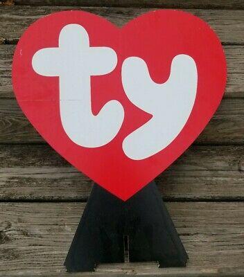 TY BEANIE BABIES Baby Store Display Heart Shaped Logo Promo.