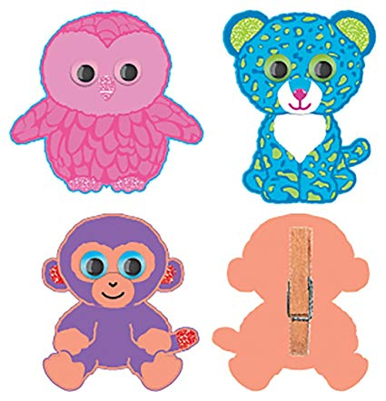Darice, Ty Beanie Boo Mini Group Kits, Clothespin Characters.