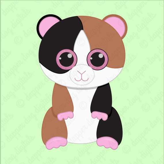 Beanie Boo's Clipart Pack Glitter Eyes by DapperDogDigitals.