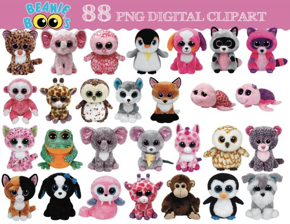 TY Beanie Boo 88 digital clipart images.