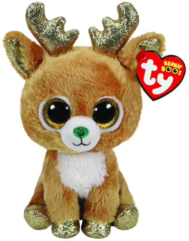 Glitzy the Reindeer Christmas Regular Beanie Boo.