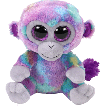 TY Beanie Boos Zuri the Multicolor Monkey Small 6