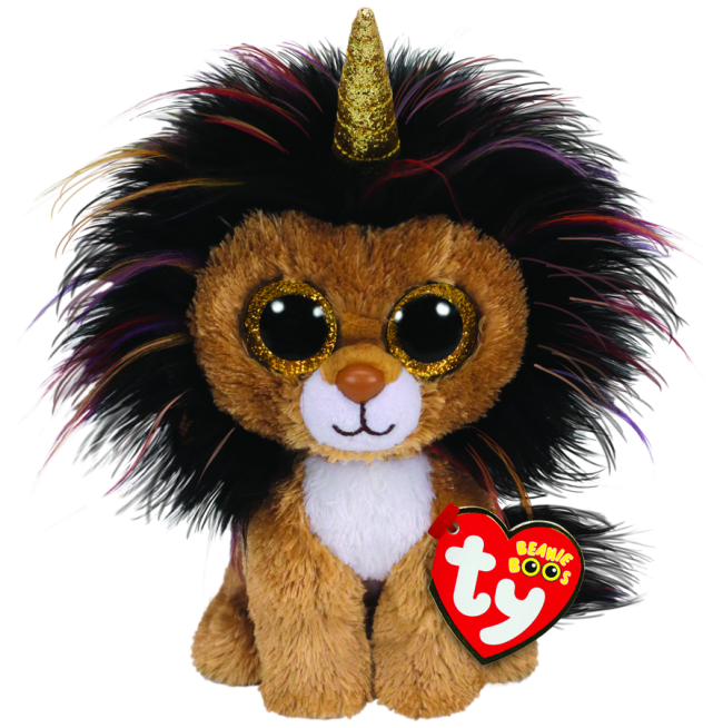 Ramsey the Lion with Horn Regular Beanie Boo.