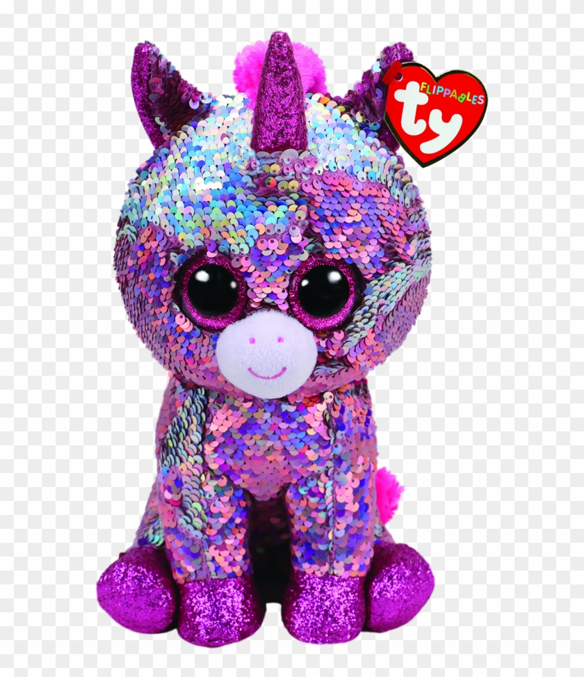 Ty Beanie Boo Flippables Sparkle Unicorn Medium.