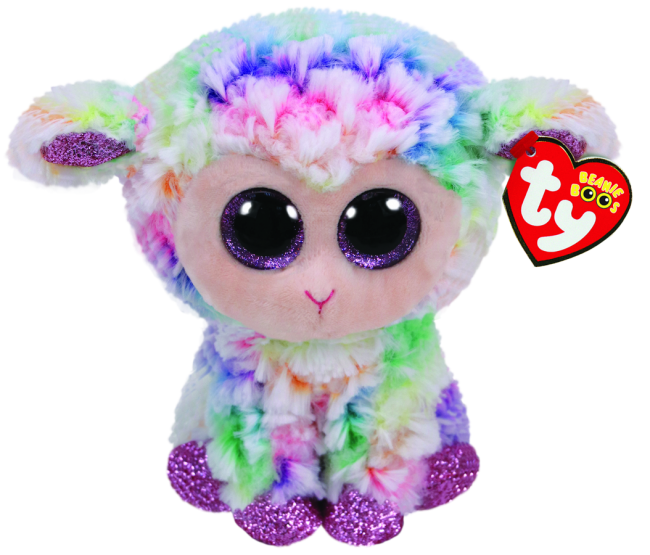 Daffodil the Pastel Easter Lamb Regular Beanie Boo.