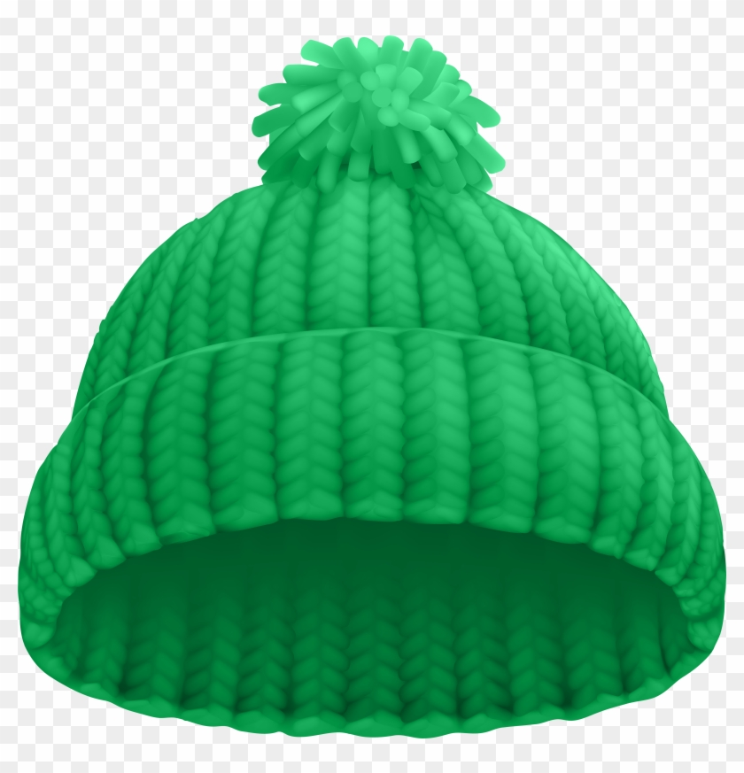 Green Winter Hat Png Clip Art Image.