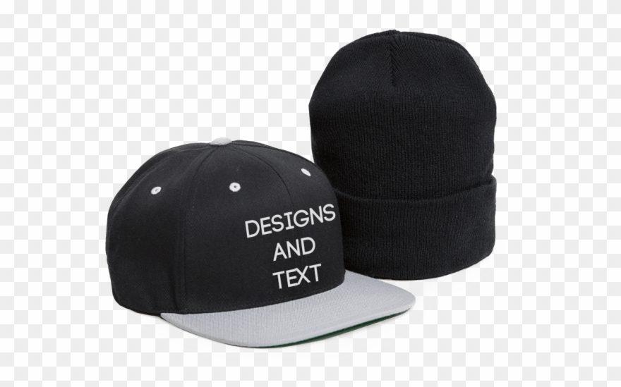 Clip Black And White Stock Custom Caps Hats Beanies.