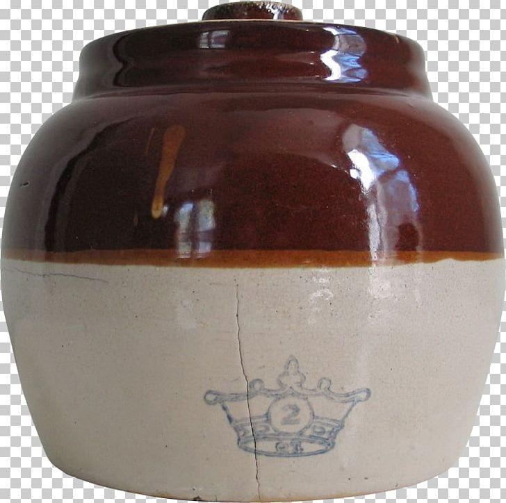 Guernsey Bean Jar Ceramic Beanpot Crock Stoneware PNG.