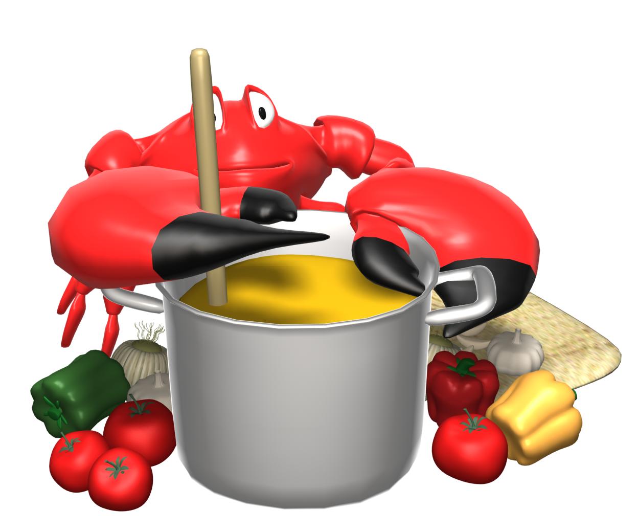 Soup Bean Pot Clipart.