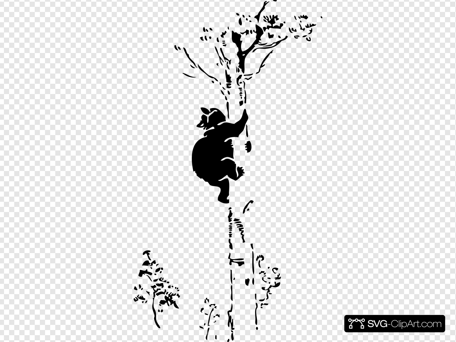Bear Up A Tree Clip art, Icon and SVG.