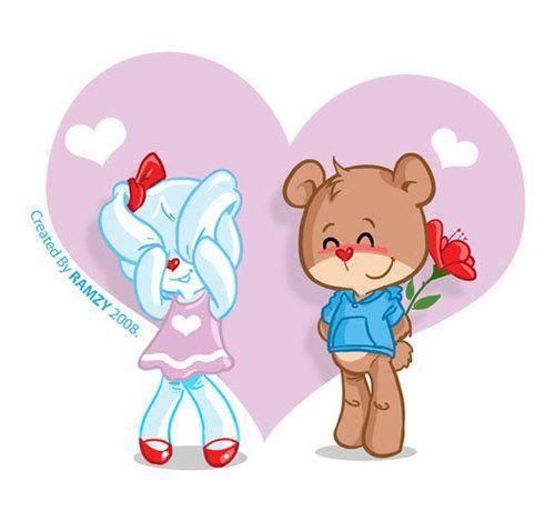 Bunny and bear Valentines\' day love. #boyfriend.