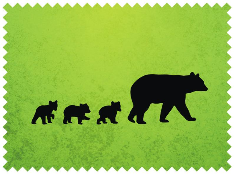 Black Bear Mother and Her Cubs Clipart, Black Bear SVG for Cutting and  Engraving.
