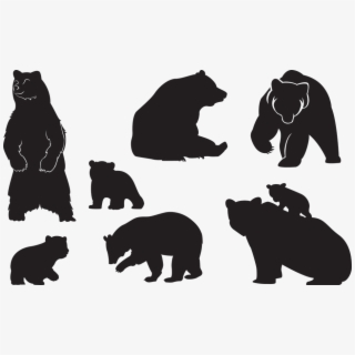 PNG Bear Silhouette Cliparts & Cartoons Free Download.