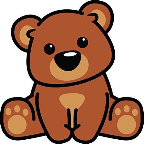 Amazon.com: Cute Baby Teddy Bear Cub Sitting Paws Kawaii.