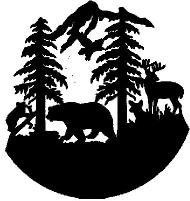 Sue\'s Sparklers: Bear & Deer Pine Trees.
