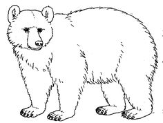 Bear black and white clipart 2 » Clipart Station.